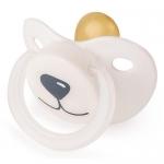 Соска-пустышка Happy Baby Baby латексная White Медвежонок
